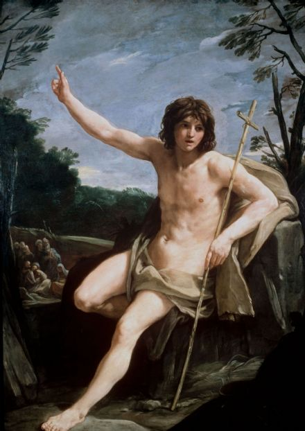 Reni, Guido: Saint John the Baptist in the Wilderness. Fine Art Print/Poster. Sizes: A4/A3/A2/A1 (002012)